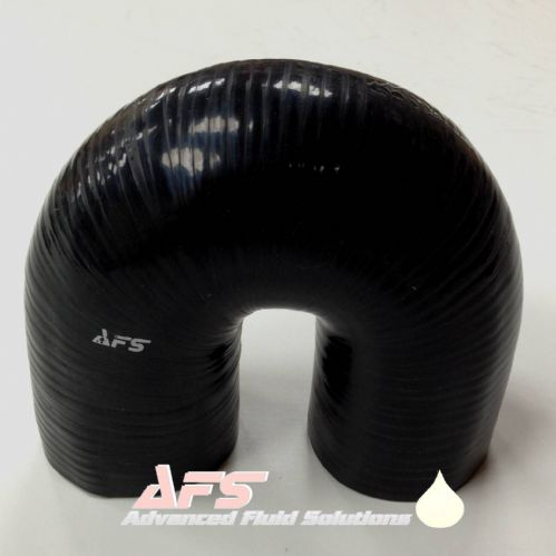 80mm (3.5/32 Inch) I.D BLACK 180 Degree Silicone Pipe U Bend Silicon Hose
